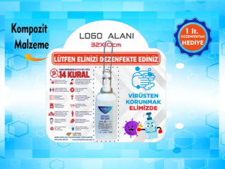 El Dezenfektan Noktası Asansör veya Duvara Monte satışı muğla reklam