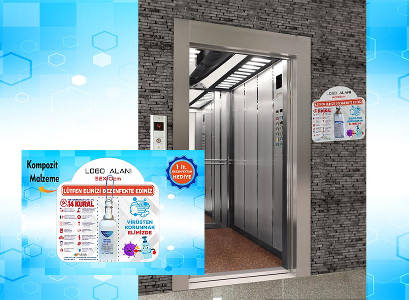 muğla reklam El Dezenfektan Noktası Asansör veya Duvara Monte edilir