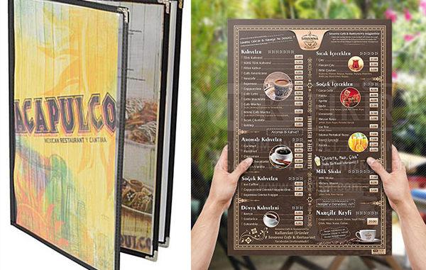 Menü Çeşitleri, özel menü tasarımları mugla reklam