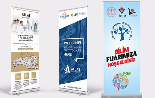 roll up banner tasarım ve üretimi mugla reklam