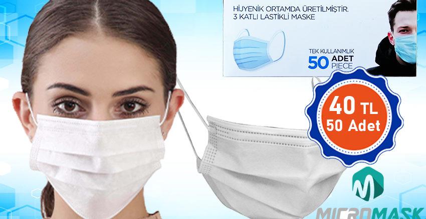 Tek kullanımlık cerrahi maske üretim ve satış mugla reklam